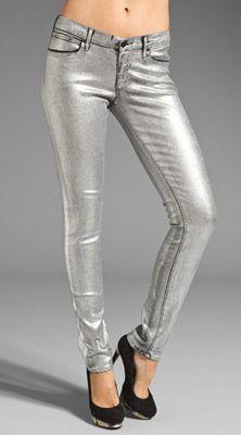 Juicy Couture Foil Coated Skinny Denim
