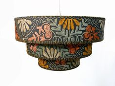 50's Folkloric Lampshade - Three Tiered Pendant via http://www.etsy.com/people/MarianaTemplin/favorites