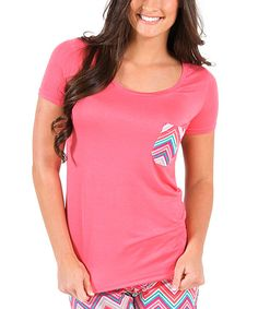 Look at this Sunset Chevron Tee on #zulily today!