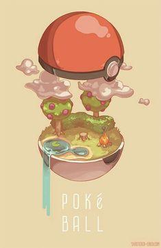 Pokeball, text; Pokémon