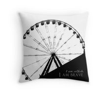Brave and Selfish Throw Pillow