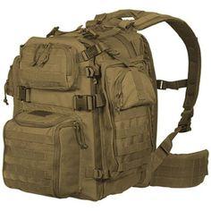 Voodoo Tactical Praetorian Rifle Pack Backpack 20x11x9 Pack Cloth Coyote 15-002907000