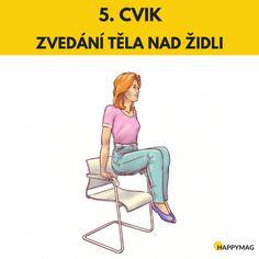 6 efektivních cviků jak zhubnout boky, zatímco sedíte na židli Gentle Yoga, Hiit, Detox, Victoria Secret, Exercise, Workout, Disney Princess, Memes, Health