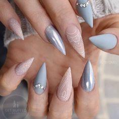 #throwbackthursday Shades of Grey Nails I did a while back for @neztheartist @gfa_australia @glitter_heaven_australia ✨ @uglyducklingnails #tbt