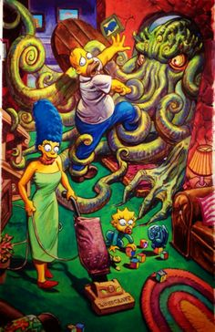 Simpsons and Cthulhu by Dan Brereton
