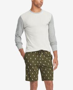 879a62358b1292 Polo Ralph Lauren Men Waffle-Knit Sleep Shirt