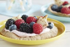Delicious!!  Driscoll's Mini Berry Pita Pizzas www.driscolls.com @Stevie Driscoll's Berries