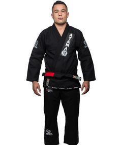 Atama Gold Weave - Black Brazilian Jiu Jitsu Judo Kimono