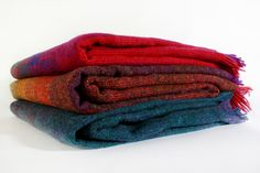 Bright wool blankets