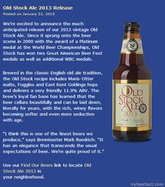 North Coast Old Stock Ale 2013 Available Now