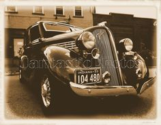 1933 Graham: Aged photo of a fine auto all shined up for a Sunday drive. Perfect on a homemade greeting card going to any fan of fine cars.