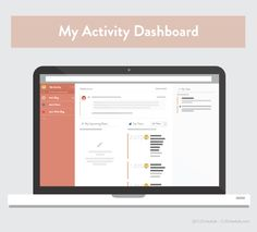 """The CoSchedule """"My Activity"""" area makes it easy to track tasks, conversations, and social sharing stats, as well as easily access any blog."""
