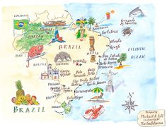 Michael A. Hill -  Brazil map | PlanSouthAmerica | The Travel Specialists