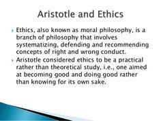 Aristotle:Ethics