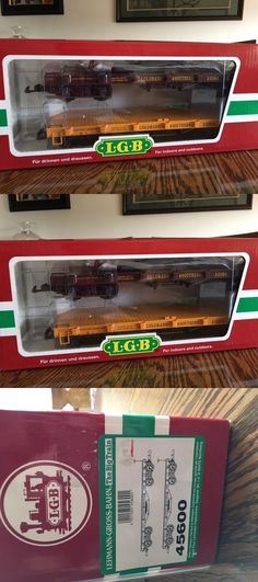 Freight Cars 122580: Lgb 45600 Two Colorado And Southern Flat Cars With Stakes- Excellent New In Box -> BUY IT NOW ONLY: $100 on eBay!
