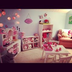 I transformed this room on Christmas Eve from a non-descript,dusty sitting room into a little girl's dream play area! JP