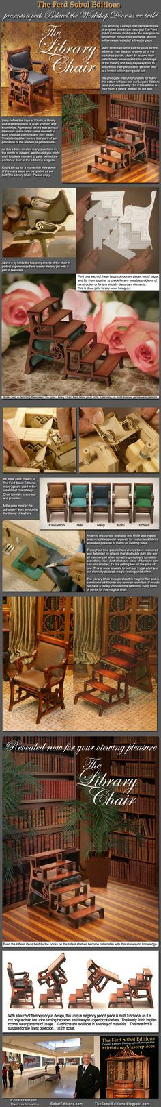 Miniature Library Chair - This chair flips into a ladder to reach high shelves in the library.