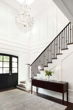 Stairs before and plan. Here's the design for my staircase makeover. Ideas a… Stairs before and plan. Here's the design for my staircase makeover. Design Entrée, Flur Design, Deco Design, House Design, Design Ideas, Lobby Design, Design Trends, Design Inspiration, Foyer Decorating