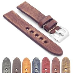 0fea9505290 Gallery Thick Distressed Leather Strap Distressed Leather