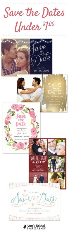 Save the Dates under $1