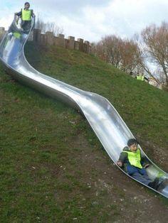 'S' Embankment Slide Bespoke Slides - Slides Playground Equipment
