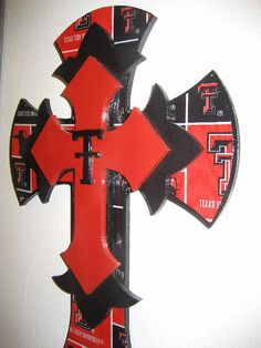 Wall Cross for the Texas Tech Lover by cthorses66 on Etsy, $55.00