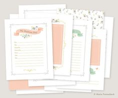 LDS Baptism Memory Book Girl Printables - Instant PDF Download - 8.5x11