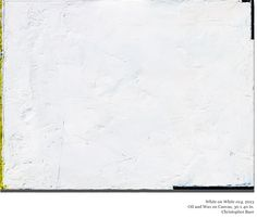 Recent work from theWhite on Whiteseries on... | CHRISTOPHER BAER