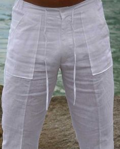 Linen pants for men, Beach