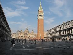 St. Mark's Square, Venice.  One of my favourite spaces - when the tourists are gone.