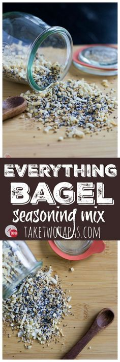 Your favorite bagel topping of poppy seeds, sesame seeds, onion, garlic, and kosher salt is within your grasp. Make your own Everything Bagel Seasoning Mix at home with your own pantry spices! Everything Bagel Seasoning Mix Recipe Bagel Toppings, Homemade Spices, Homemade Seasonings, Homemade Bagels, Spice Blends, Spice Mixes, Low Carb Recipes, Cooking Recipes, Ww Recipes