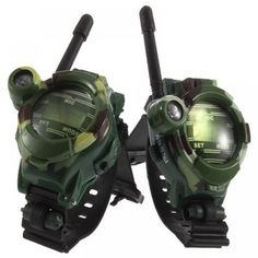 1 Pair Toy Walkie Talkies Watches Walkie Talkie 7 in 1 Children Watch Radio Outdoor Interphone Toy Gift For Chirlden 2 Pcs New Radios, Talkie Walkie, Airsoft Helmet, Military Camouflage, Military Party, Boys Watches, Two Way Radio, Electronic Toys, Hunting Gear