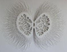 Intricate Hand-Cut Paper Sculptures Mimic Patterns Found in Nature