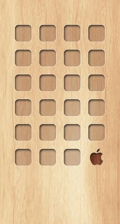 » Shelf wooden board brown yellow Apple logo wallpaper.sc iPhone6