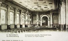 Postcard of church interior at the end of the 19th century