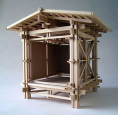Konokopia: All Rights Reserved: Models Japanese Architecture, Architecture Details, Interior Architecture, Architecture Panel, Timber Structure, 3d Modelle, Arch Model, Modelos 3d, Model Building
