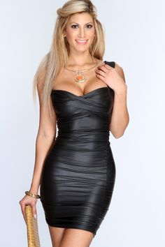 How to Find the Right Leather Dress for You September 2014 - Author: Jeff Smit Sexy Party Dress, Hot Dress, Dress Skirt, Bodycon Dress, Tight Dresses, Sexy Dresses, Short Dresses, Fashion Dresses, Women's Fashion