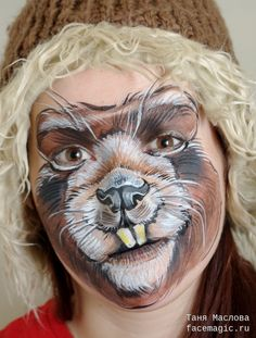 Face paint by Tanya Maslova. Face Painting Designs, Paint Designs, Body Painting, Animal Face Paintings, Animal Faces, Animal Pictures For Kids, The Magicians Nephew, Animal Makeup, Kids Makeup