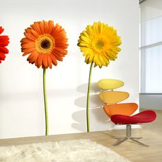 Colorful Daisy Wall Decals.