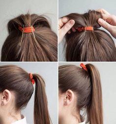 If you know a good hair hack you go by chances are you use it often. But it doesn't hurt to learn new hair hacks to make your hair less frizzy and set up for a great hair day! Summer Ponytail, Perfect Ponytail, Pretty Hairstyles, Easy Hairstyles, Waitress Hairstyles For Long Hair, Ponytail Hairstyles Tutorial, Elegant Hairstyles, Summer Hairstyles, About Hair
