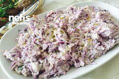 Mor Lahanalı Kereviz Salatası