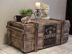 """Kaffe-""""Truhe"""" of Used-Look von Atelier-Nr13        """" Villa-Klippenscheune """"  auf DaWanda.com"""