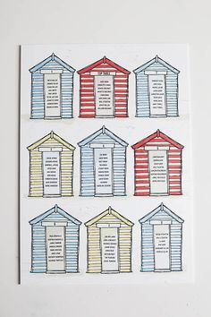 Beach Hut Seating Plan