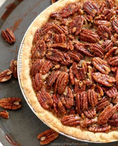 A delicious homemade pecan pie recipe that is easy to make. LOVE !