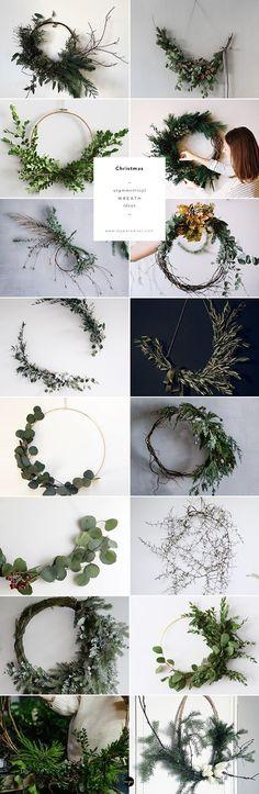 16 of the prettiest asymmetrical wreaths around | My Paradissi