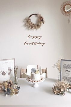 Simple First Birthday, Baby Girl First Birthday, First Birthday Parties, First Birthdays, Bohemian Birthday Party, Simple Birthday Decorations, Girl Birthday Themes, Rustic White, Kitten Birthday Parties