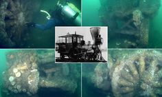 New Jersey's deep sea train graveyard: Locomotives lost in the found preserved 90 feet under water