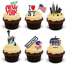 30 Stand Up New York City Themed Edible Wafer Paper Cake Toppers