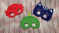 Bought these for the girls. PJ Masks masks.