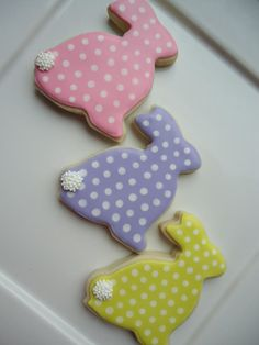 Polka dot bunnies! | Cookie Connection